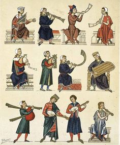 Medieval instruments illumination