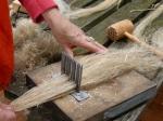 combing fibers