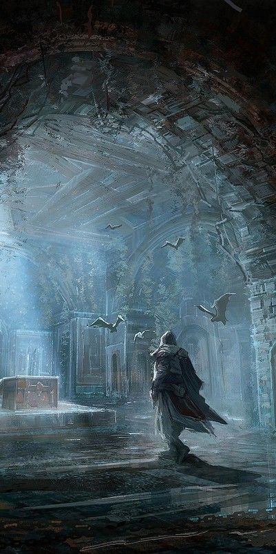 """Into the Tombs"" by Fantasy Art Engine"